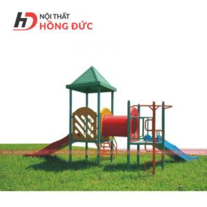 Nhà chòi cầu trượt ống chui HDC101
