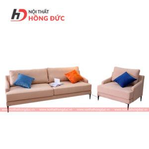 Sofa bộ nỉ màu hồng nhạt