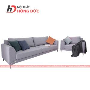 Sofa bộ chất liệu nỉ màu xám nhạt