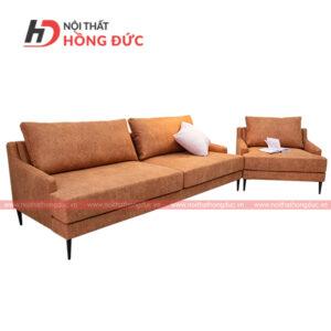 Bộ sofa nỉ văng màu nâu nhạt