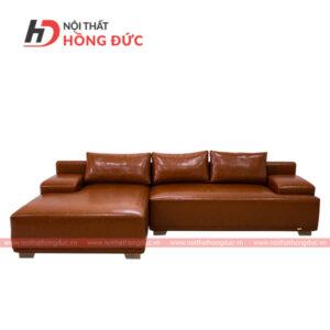 Sofa da góc chữ L màu nâu sẫm tại thanh hóa