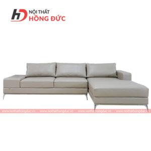 Sofa da góc chữ L màu trắng sữa tại Thanh Hóa