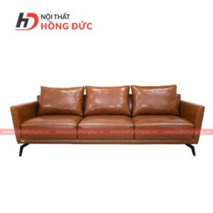 Sofa da cao cấp văng màu nâu