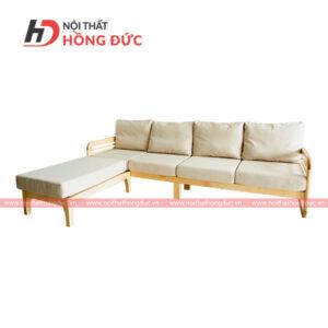 Sofa gỗ tần bì đệm nỉ cao cấp