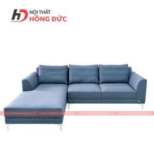 Sofa nỉ góc chữ L màu xanh nước biển