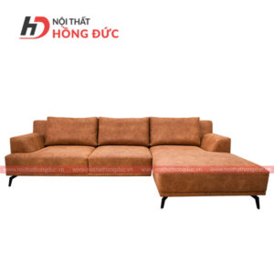 Sofa nỉ cao cấp chữ L màu nâu