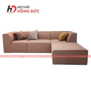 Sofa nỉ chữ L màu nâu
