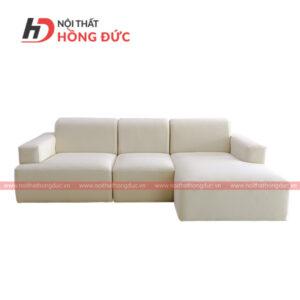 sofa nỉ trắng chữ L