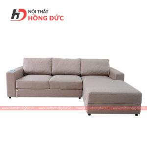 Sofa nỉ góc chữ L màu nâu đất nhạt tại thanh hóa