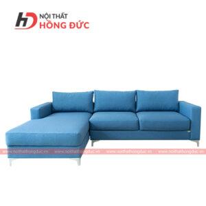 Sofa nỉ góc chữ L màu xanh đậm nước biển tại thanh hóa