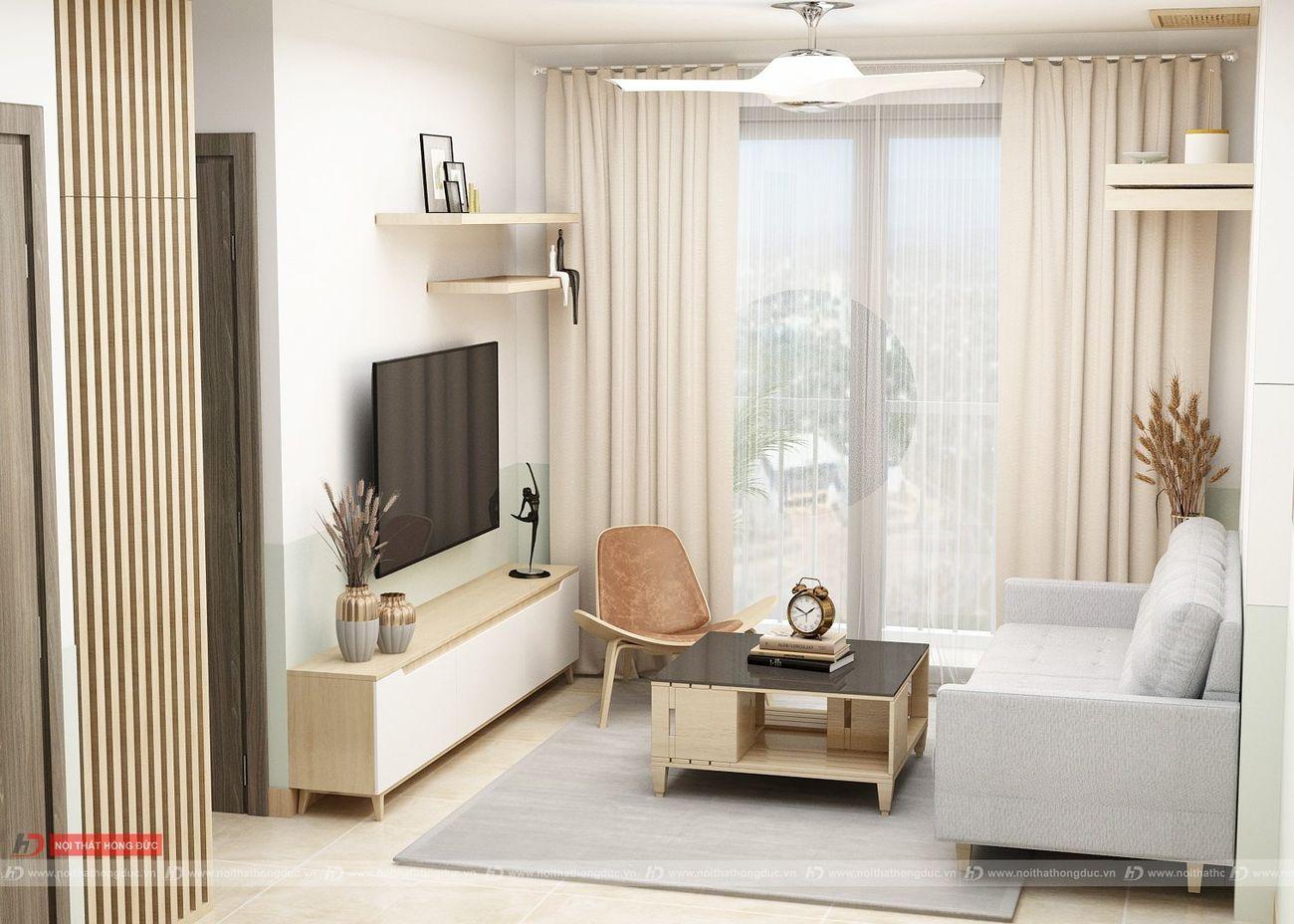 thiết kế thi công nội thất chung cư xuân mai