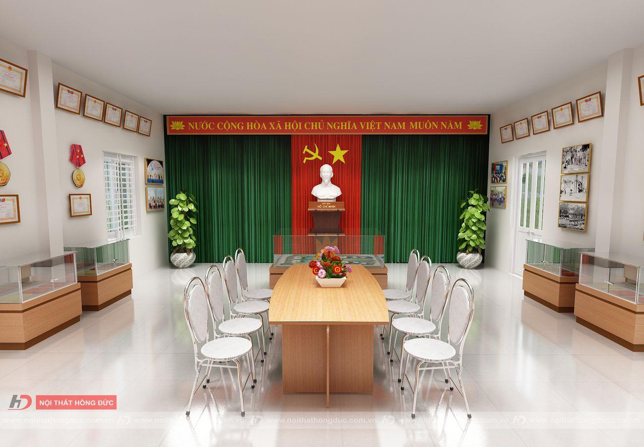 thiết kế thi công phòng truyền thống - tiểu học Bình Minh