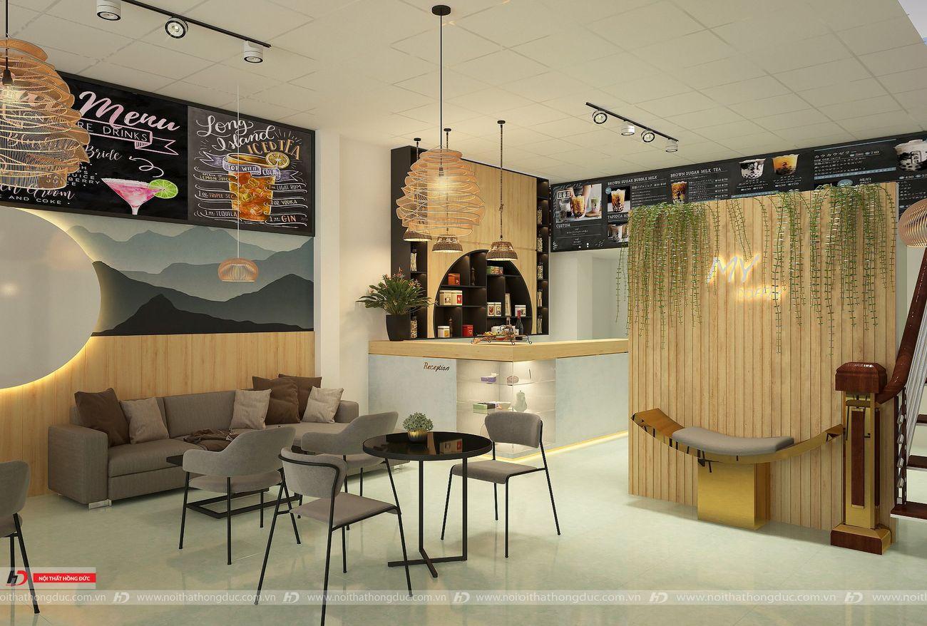 thiết kế thi công quán cafe tại thanh hóa - nội thất hồng đức