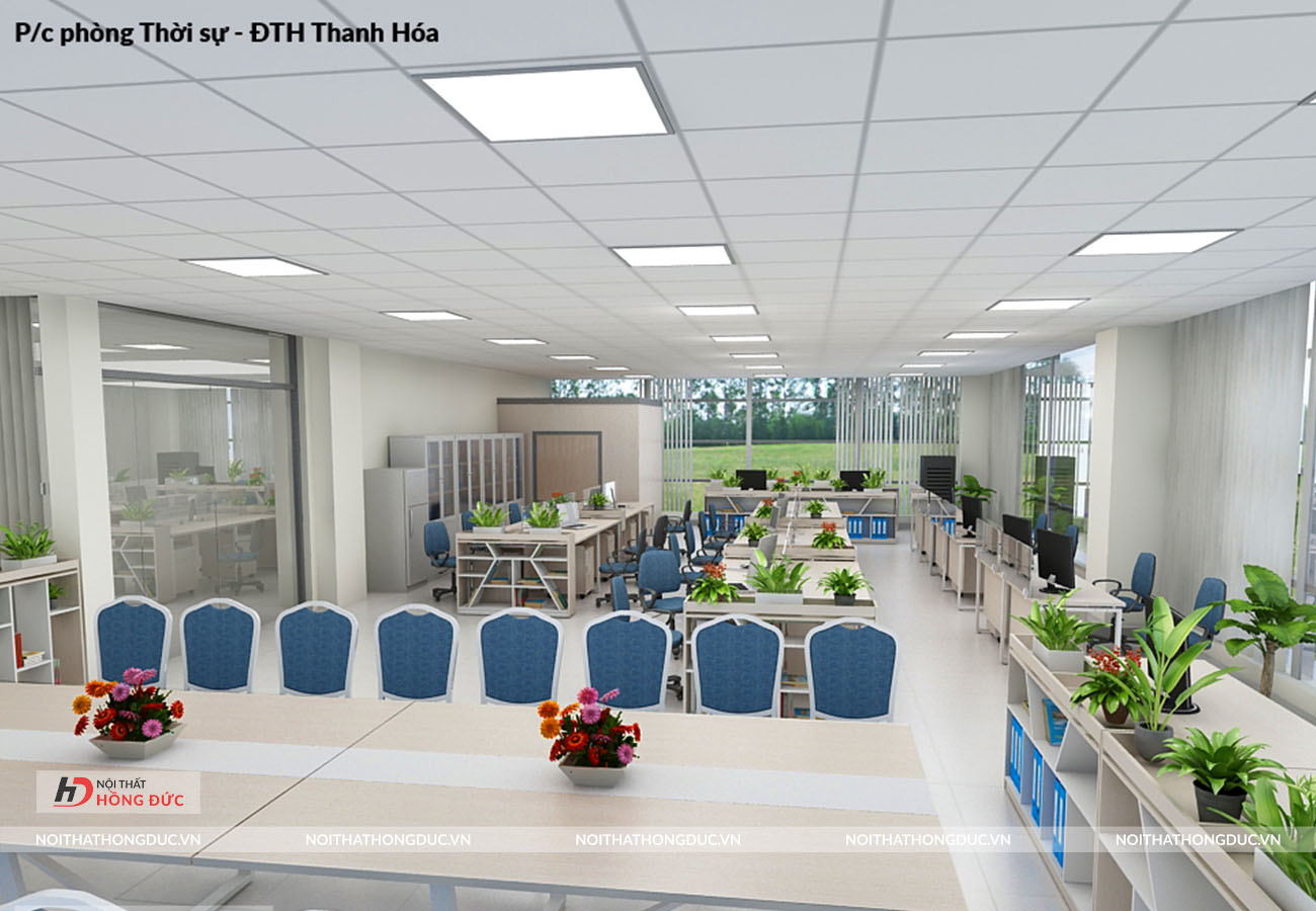 thiết kế thi công nội thất văn phòng thanh hóa