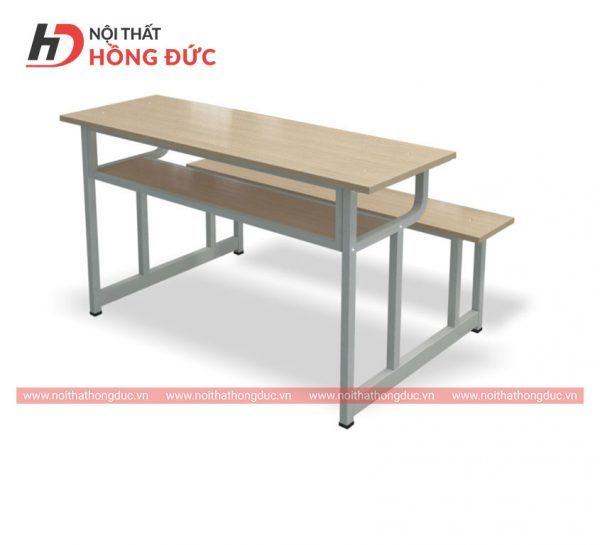 Bàn ghế học sinh cấp 3 và đại học không tựa - Mẫu bàn học sinh bằng gỗ đẹp