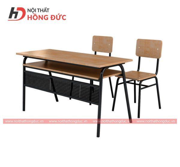 Mẫu bàn học sinh bằng gỗ đẹp thiết kế mới