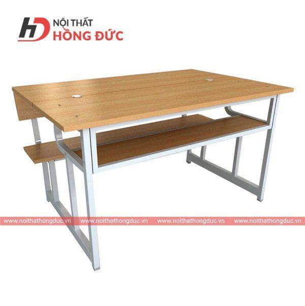 Bàn liền ghế học sinh tiểu học bán trú - Mẫu bàn học sinh bằng gỗ đẹp