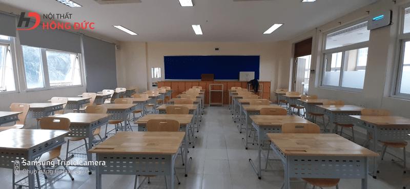 Mẫu bàn học sinh bằng gỗ đẹp