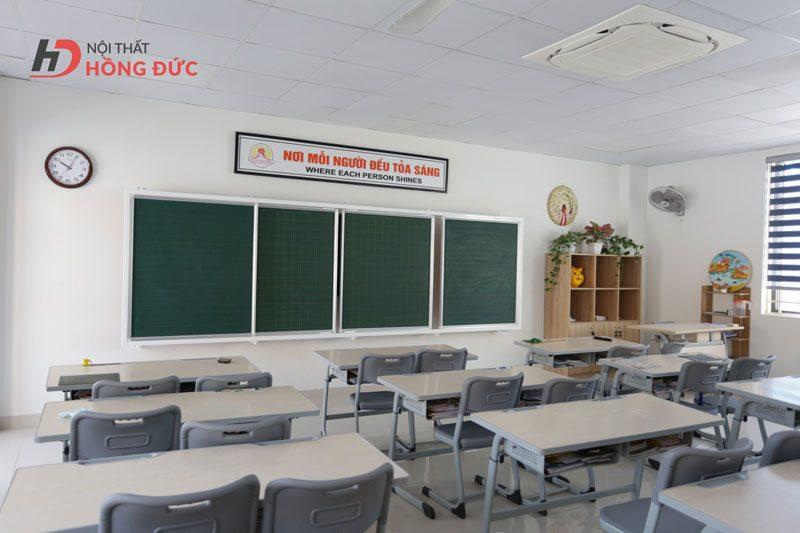 Thiết kế thi công thiết bị nội thất trường liên cấp Fansipan - Nội thất Hồng Đức