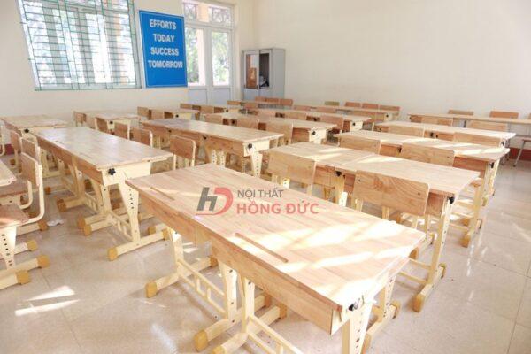Các mẫu bàn ghế học sinh cấp 1 - Dự án tại nội thất Hồng Đức