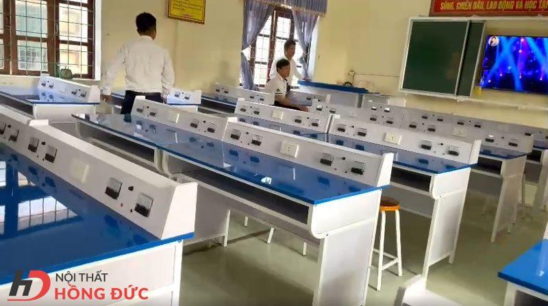 Dự án sản xuất thi công bàn thí nghiệm - Nội thất Hồng Đức