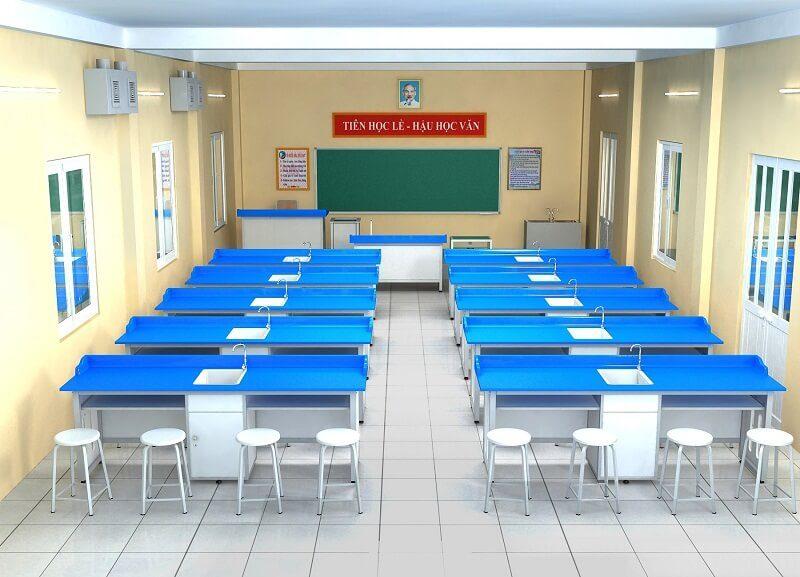 Nội thất phòng thí nghiệm trường học Thanh Hoá