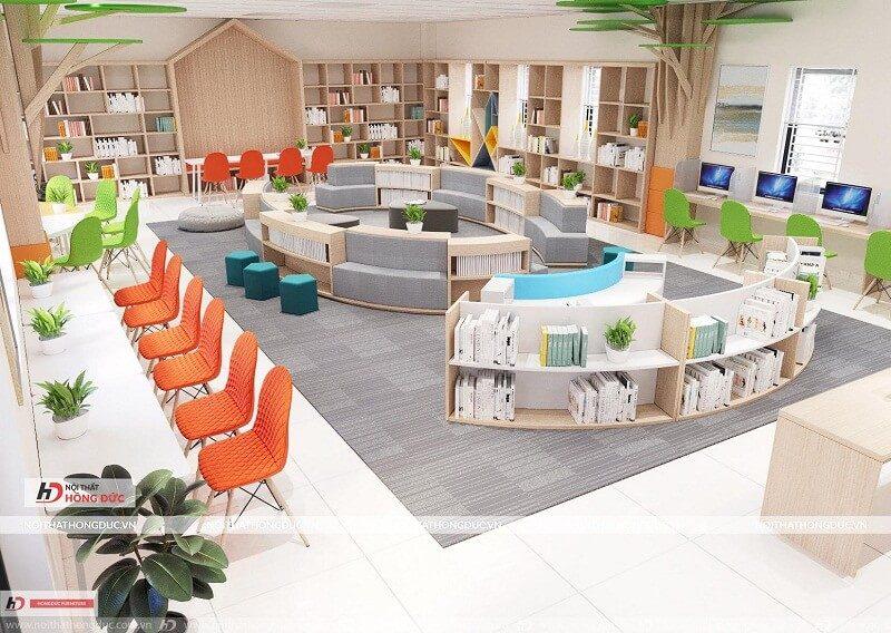 Nội thất phòng thư viện