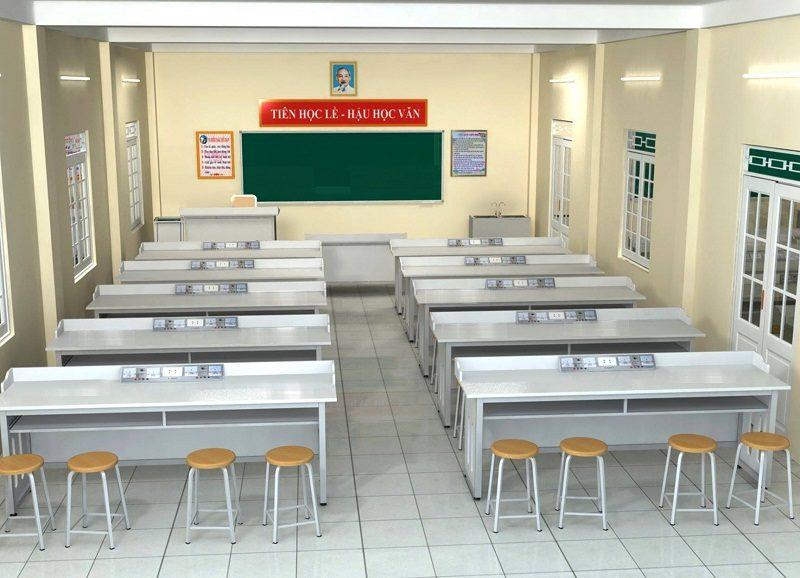nội thất phòng thí nghiệm trường học